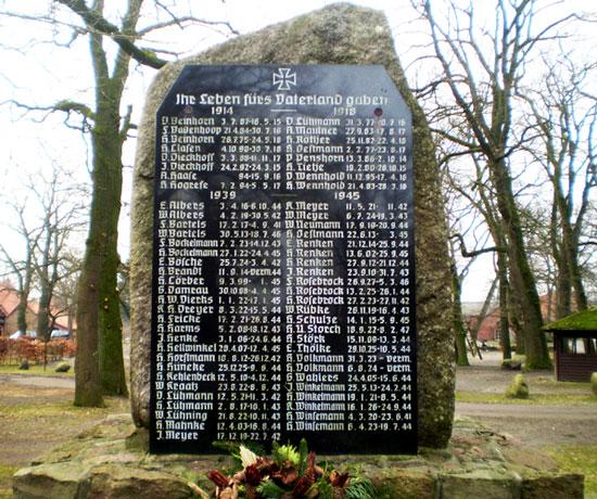 Kriegerdenkmal Neddenaverbergen